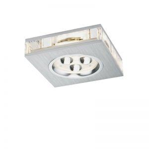 LED-Einbauleuchte in Aluminium-gebürstet mit indirektem Lichteffekt inklusive 3W LED 3000°K