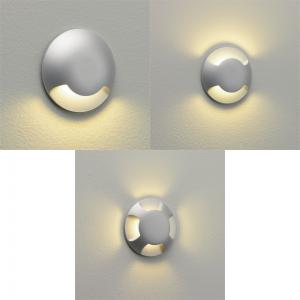 LED-Einbauleuchte Boden, Wand, rund, silber, D= 6 cm, in  3 Varianten