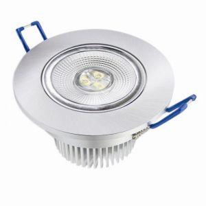 LED-Einbauleuchte in Nickel, dimmbar - 8 Watt, 36°