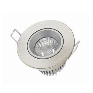 LED-Einbauleuchte in Nickel, 10 Watt, Dim-to-warm