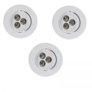 LED-Einbauleuchten 3er Set in Weiß