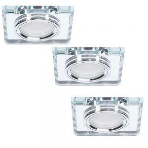 LHG LED-Einbaustrahler 3er Set Glasrahmen 3-fach dimmbar