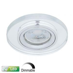 LHG LED-Einbaustrahler Glasrahmen rund, dimmbar, LED 1x GU10 5 W
