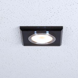 LED-Einbaustrahler mit Glasrahmen - Eckig - Schwarz - inkl. Fernbedienung