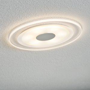 LED-Einbaustrahler rund Chrom matt - Acryl