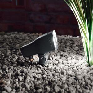 LED-Erdspieß-Strahler, schwenkbar, LED 5 Watt - offenes Kabelende 1x 5 Watt, ohne Steckerzuleitung