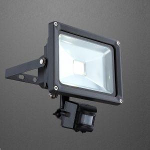 LED-Flutlichtstrahler mit Bewegungsmelder, dunkelgrau, LED 20W