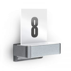 LED-Hausnummernleuchte mit Infrarotsensor, Klebe-Hausnummern