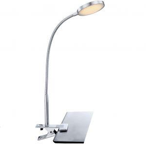 LED-Klemmleuchte Pegasi in Aluminium chrom