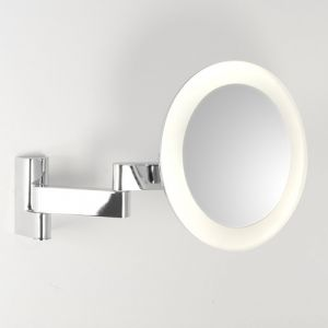LED-Kosmestikspiegel Nimi round, in Chrom