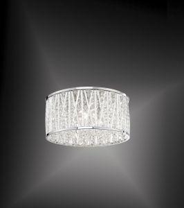 LED-Kristalldeckenleuchte Lefes 29,5cm, 3 x 3Watt 3x 3 Watt, II, 15,40 cm, 29,50 cm