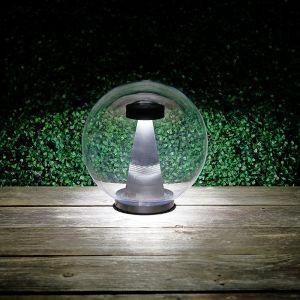 LED-Kugelleuchte transparent IP44, 30 cm 30,00 cm