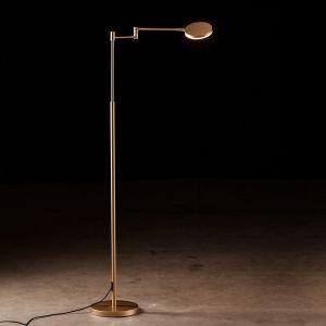 LED-Leseleuchte Plano B, Tastdimmer, Eloxal Messing messingfarbig, eloxiert