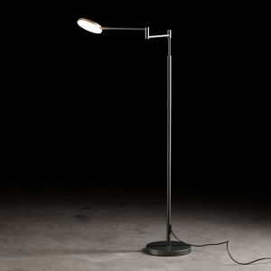 LED-Leseleuchte Plano B, Tastdimmer, Platin dunkelgrau, Platin