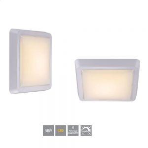 LED-Leuchte Cubic, weiß, 27 x 27 cm 1x 14 Watt, 27,00 cm, 27,00 cm