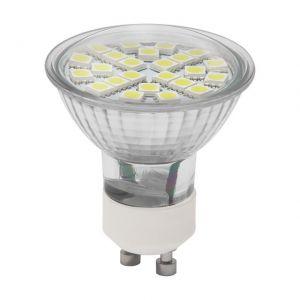 LED-Leuchtmittel mit GU10-Sockel - 24 LEDs - 2,5 Watt - Tageslich  5700K