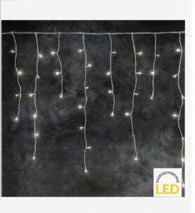 LED-Lichterkette Eisregen, für Innen und Außen, 100 LED warmweiß