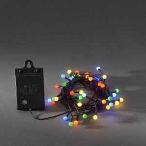 LED-Lichterkette, 40 Dioden, Lichtsensor, Timer, Bunt, Außenbereich