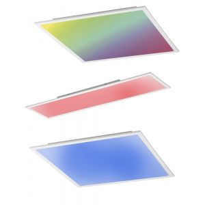 LED-Panel Deckenleuchte mit Fernbedienung Farbe & reines Weiß