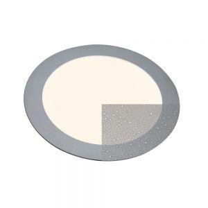 LED-Panel rund für Deckeneinbau Innen und Außen, silber, 16W