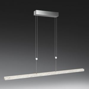 LED-Pendelleuchte in Aluminium-matt / Beton-Optik 2 Längen