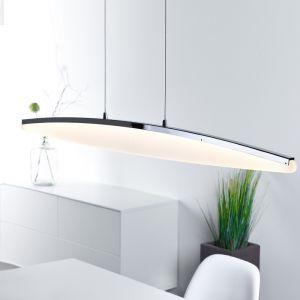 LED-Pendelleuchte Chrom für den Essbereich