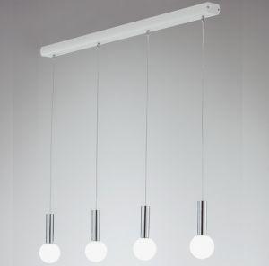 LED-Pendelleuchte in Grau mit Glas matt