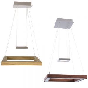 LED-Pendelleuchte Leonora von Herzblut, Holz wählbar