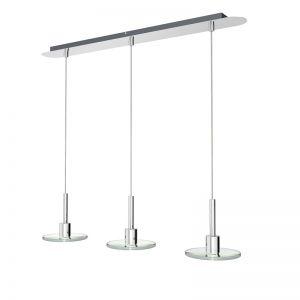 LED-Pendelleuchte mit klaren Glasscheiben 3x 4W SMD-LED 975 Lumen 3000°K 3x 4 Watt, 62,00 cm