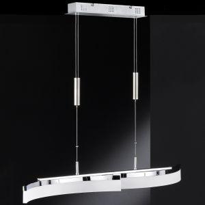 LED-Pendelleuchte Tangenz , höhenverstellbar, Chrom