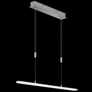 LED-Pendelleuchte, Nickel-matt, höhenverstellbar, eckig, 2 Längen