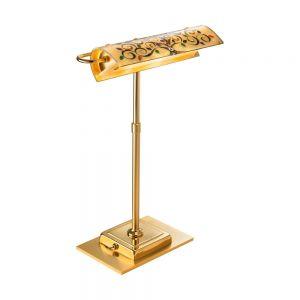 LED-Schreibtischleuchte Bankers, Dekor Albero Multi, ausrichtbar