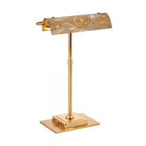 LED-Schreibtischleuchte Bankers, Dekor Aqua Champagne, verstellbar
