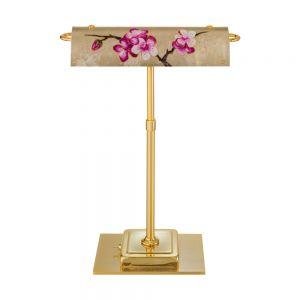 LED-Schreibtischleuchte Bankers, Dekor Primavera Gold, ausrichtbar