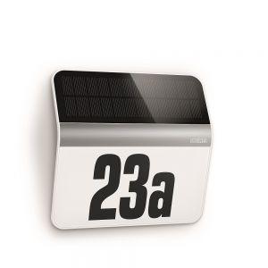 LED-Solar-Hausnummernleuchte 4000K in Edelstahl