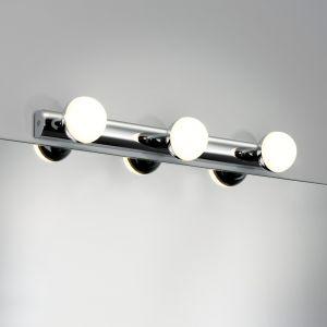 LED-Spiegelleuchte mit IP44, LED 3x3,5W, Chrom