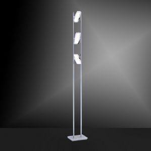 LED-Stehleuchte Ilona in Chrom, dimmbar - 3 x 4,6W LED