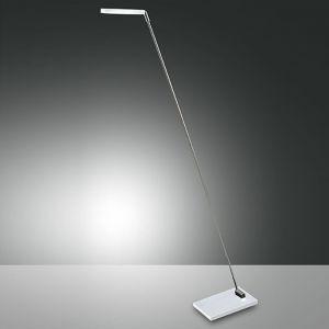 LED-Stehleuchte Niki Weiß - Kippbar chrom/weiß