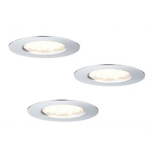 LED-Strahler im 3er Set - Aluminium - Wand-oder Deckenmontage