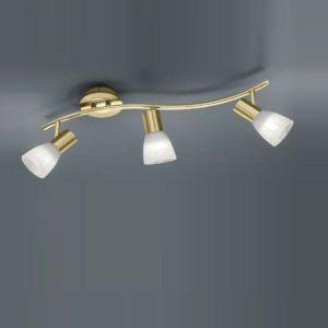 LED-Strahler für Wand oder Decke - 3-flammig - Messing-matt messingfarbig, Messing-matt