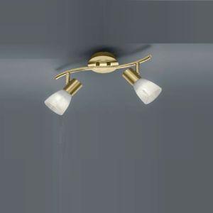 LED-Strahler Levisto 2-flammig, Messing-matt messingfarbig, Messing-matt