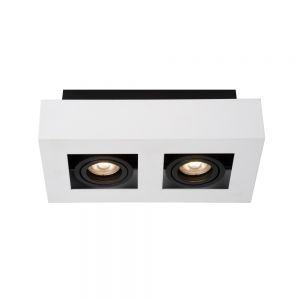 LED-Strahler Xirax von Lucide in schwarz/weiß 2x 5 Watt, 25,00 cm, 14,00 cm