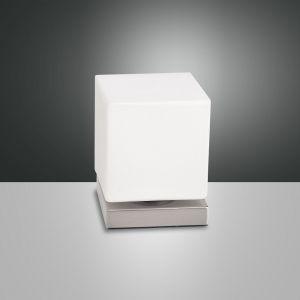 LED-Tischleuchte Brenta, Nickel satiniert nickel, satiniert
