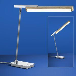 LED-Tischleuchte Stripe mit Holz von B-Leuchten