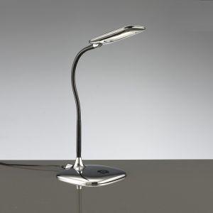 LED-Tischleuchte, 4-fach Stufendimmer, Touch, Chrom 1x 4,8 Watt, chrom