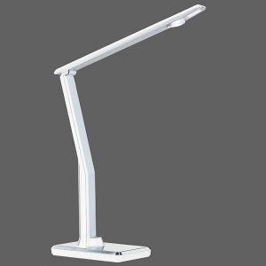 LED-Tischleuchte , Höhe max. 58 cm, Kunststoff aluminiumfarbig/weiß