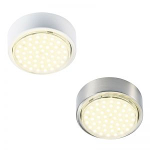 LED-Unterbauleuchte in 2 Farben, 3W LED, Lichtfarbe weiß 3200°K