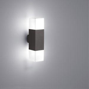 LED-Wandleuchte 2-flg. mit LED 2 x 4 Watt in Anthrazit 2x 4 Watt, anthrazit