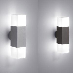 LED-Wandleuchte 2-flg. mit LED 2 x 4 Watt in zwei Farben
