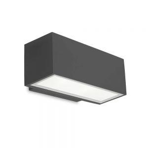 LED-Wandleuchte Afrodita in anthrazit für den Außenbereich
